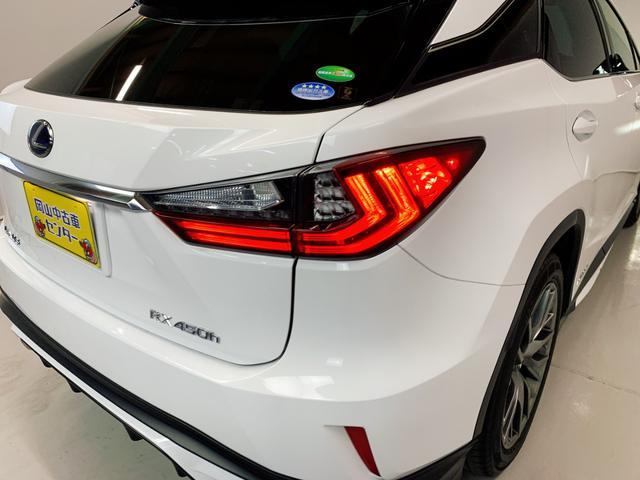 RX450h Fスポーツ レクサスRX450H ハイブリット Fスポーツ TRDフルエアロ TRD4本出しマフラー サンルーフ 赤レザー 赤革シート メモリーナビ Bluetooth プリクラッシュ LEDライト 高級SUV(48枚目)