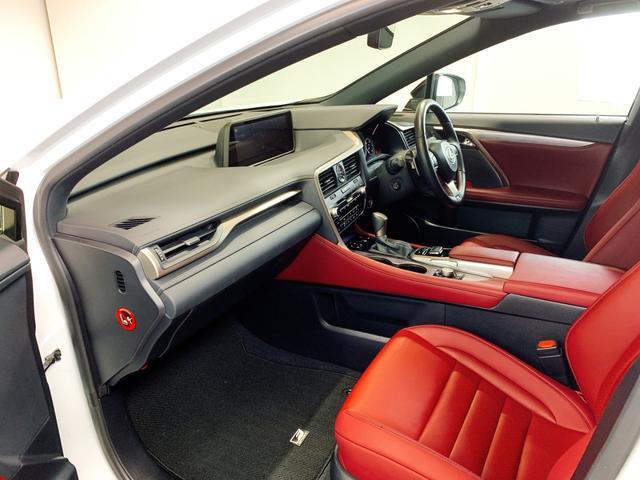 RX450h Fスポーツ レクサスRX450H ハイブリット Fスポーツ TRDフルエアロ TRD4本出しマフラー サンルーフ 赤レザー 赤革シート メモリーナビ Bluetooth プリクラッシュ LEDライト 高級SUV(58枚目)