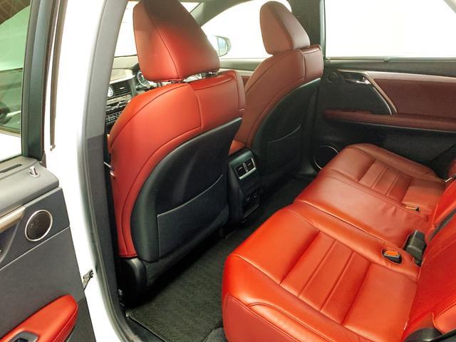 RX450h Fスポーツ レクサスRX450H ハイブリット Fスポーツ TRDフルエアロ TRD4本出しマフラー サンルーフ 赤レザー 赤革シート メモリーナビ Bluetooth プリクラッシュ LEDライト 高級SUV(60枚目)