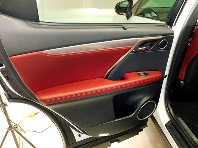 RX450h Fスポーツ レクサスRX450H ハイブリット Fスポーツ TRDフルエアロ TRD4本出しマフラー サンルーフ 赤レザー 赤革シート メモリーナビ Bluetooth プリクラッシュ LEDライト 高級SUV(62枚目)