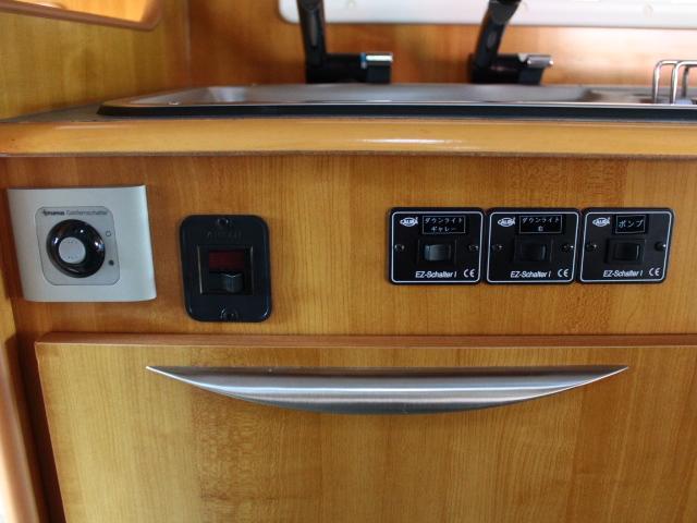 バンテック ジル520 常設2段ベット ツインサブバッテリー 走行充電 コンバーター 1500Wインバーター FFヒーター 冷蔵庫 ルーフベント 電子レンジ サイドオーニング ワンオーナー ナビ(26枚目)