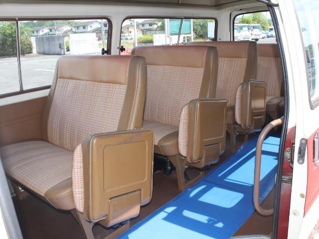 ロングDX 15名乗車 昭和56年式 2ナンバー登録 純正足回り 14インチ純正鉄ホイール 実走行 リアクーラー リアヒーター(14枚目)