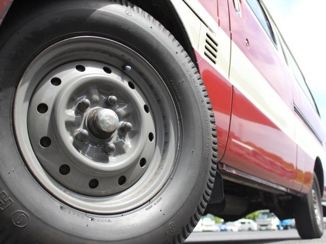 ロングDX 15名乗車 昭和56年式 2ナンバー登録 純正足回り 14インチ純正鉄ホイール 実走行 リアクーラー リアヒーター(39枚目)