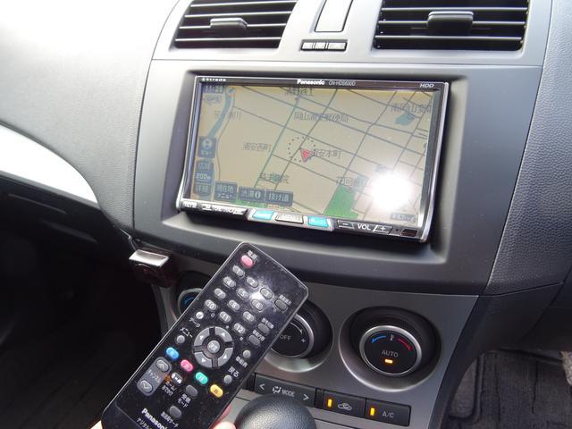 マツダ アクセラスポーツ 15C HDDナビ フルセグTVカメラ 黒革調シートカバー
