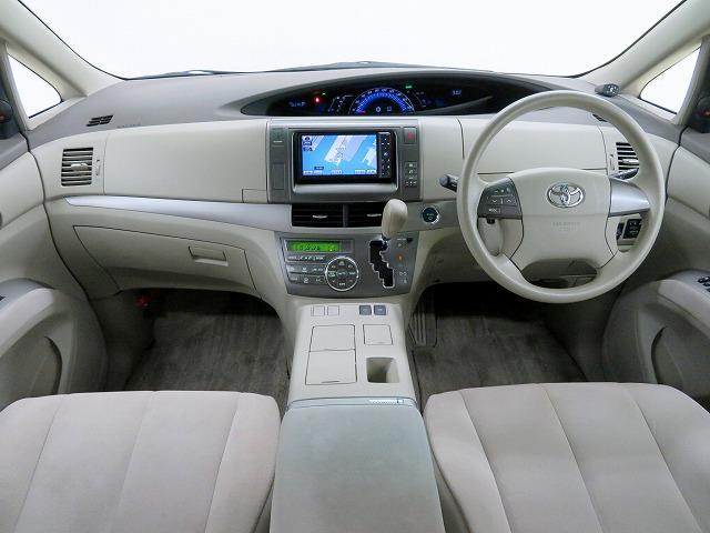 トヨタ エスティマハイブリッド X 純正HDDナビ フルセグTV 両側パワースライドドア