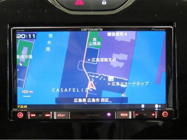ルノースポール シャシーカップ カロッツェリアSDナビ フルセグTV バックカメラ ETC パドルシフト プッシュスタート ドライブレコーダー GPSレーダー キセノンヘッドライト 純正18inアルミホイール ウインカードアミラー(8枚目)