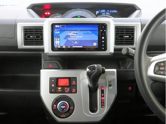 X ファインセレクションSA スマートアシスト 低速域衝突回避支援ブレーキ 誤発進抑制制御機能 先行車発進お知らせ 新品タイヤ4本 純正SDナビ  ドライブレコーダー LEDヘッドライト 純正14inアルミ 左側パワースライドドア(4枚目)
