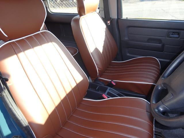 ランドベンチャー 4WD オートマ オールペン車 ハスラー純正デニムブルー色 天井ラプター塗装 修復歴無し 走行7万キロ台 1インチリフトアップ MONSTAマッドタイヤ オールドカントリーホイール(10枚目)