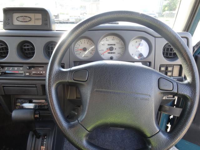 ランドベンチャー 4WD オートマ オールペン車 ハスラー純正デニムブルー色 天井ラプター塗装 修復歴無し 走行7万キロ台 1インチリフトアップ MONSTAマッドタイヤ オールドカントリーホイール(11枚目)