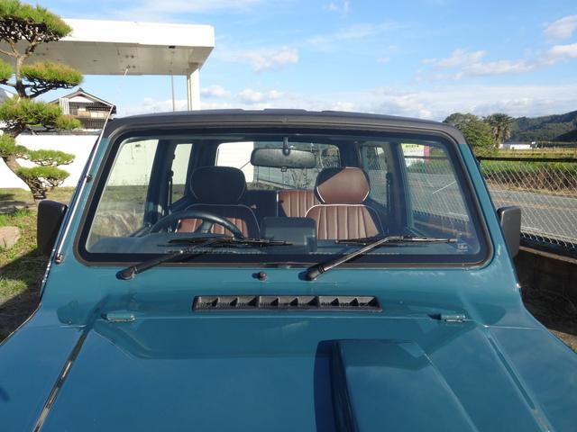 ランドベンチャー 4WD オートマ オールペン車 ハスラー純正デニムブルー色 天井ラプター塗装 修復歴無し 走行7万キロ台 1インチリフトアップ MONSTAマッドタイヤ オールドカントリーホイール(19枚目)