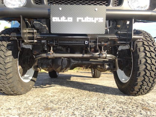 ランドベンチャー 4WD オートマ オールペン車 ハスラー純正デニムブルー色 天井ラプター塗装 修復歴無し 走行7万キロ台 1インチリフトアップ MONSTAマッドタイヤ オールドカントリーホイール(24枚目)
