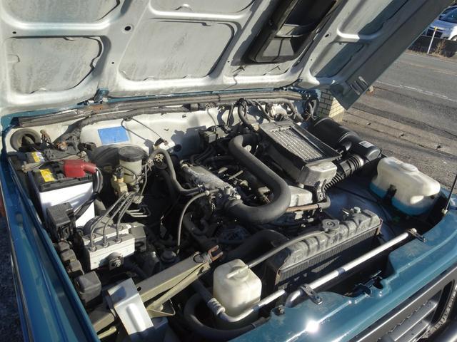 ランドベンチャー 4WD オートマ オールペン車 ハスラー純正デニムブルー色 天井ラプター塗装 修復歴無し 走行7万キロ台 1インチリフトアップ MONSTAマッドタイヤ オールドカントリーホイール(26枚目)