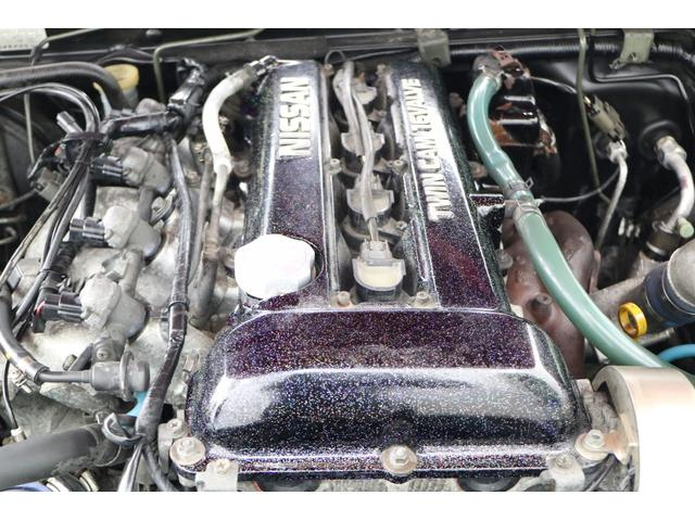 タイプX スーパーハイキャスパッケージ シルエイティ・ロケバニエアロ・ブリスターフェンダー・レイズ18インチアルミ・前置IC・車高調・7点ロールバー・3層ラジエーター・LSD・社外マフラー(6枚目)