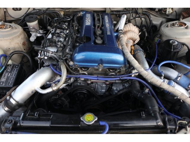 ターボE/G載替 前置きインタークーラー BLITZマフラー WORK18インチアルミ 車高調 オイルクーラー HKSエアクリーナー 社外ラジエータ エキマニ(5枚目)