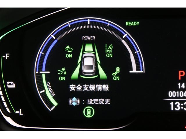 安全装置の作動状況はメーター内のインジケーターでひと目で確認できます。上級グレードのEXにはブラインドスポットインフォメーションも装備され斜め後方の死角に車がいるとドアミラー内で知らせてくれます。