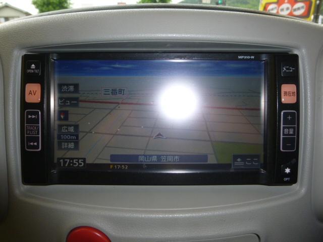 日産 キューブ 15X Mセレクション 純正メモリーナビ
