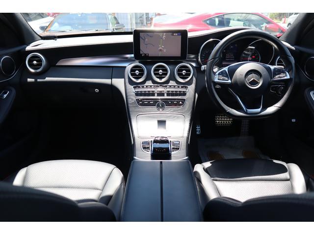 C200 ステーションワゴン スポーツ C63仕様/マフラー/TWS鍛造20インチAW/パナメリカーナグリル/レーダーセーフティPKG/パワーシート/シートヒーター/LEDヘッドライト/純正HDDナビ/フルセグTV(3枚目)