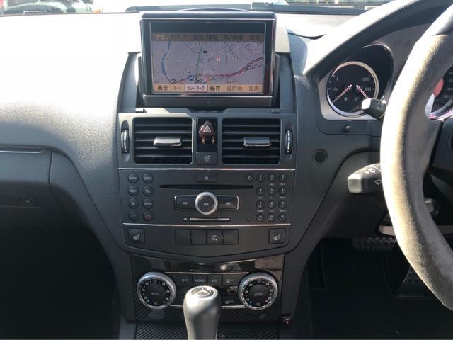 C63 AMG ステーションワゴン ナビ TV アルミ(19枚目)