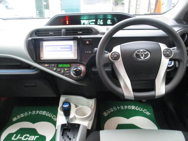トヨタ アクア S ワンオーナー ナビ Bカメラ シートヒーター