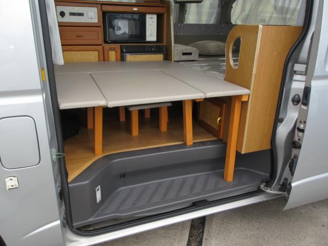 DX GLパッケージ キャンピングカー 最大4人就寝可能 サブバッテリー 電子レンジ 冷蔵庫 シンク 外部100ボルト電源 ブルートゥースナビ リヤテレビ サイドタープ付き リヤクーラー&ヒーター(5枚目)