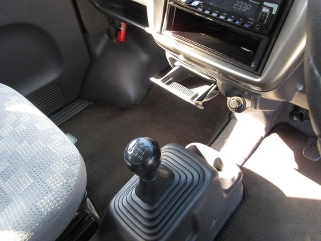 M 車検18か月 4WD マニュアル5速 カロッツェリアオーディオ リヤ荷台フラット アルミホイール(15枚目)