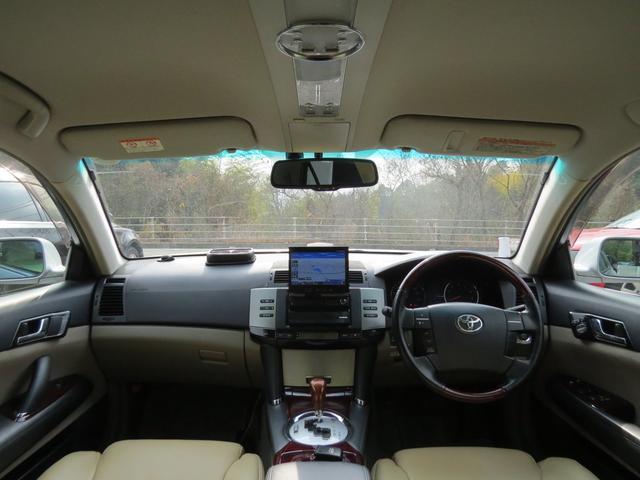 トヨタ マークX 300Gプレミアム ローダウン・エアロ・本革シート・HDD