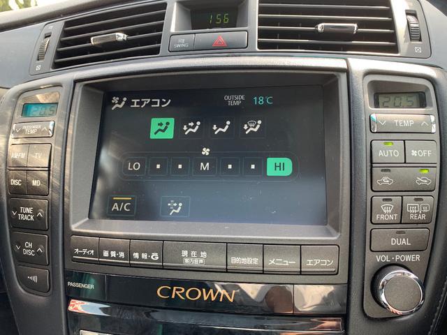 マルチナビは画面でエアコンなどの微調整も可能です。