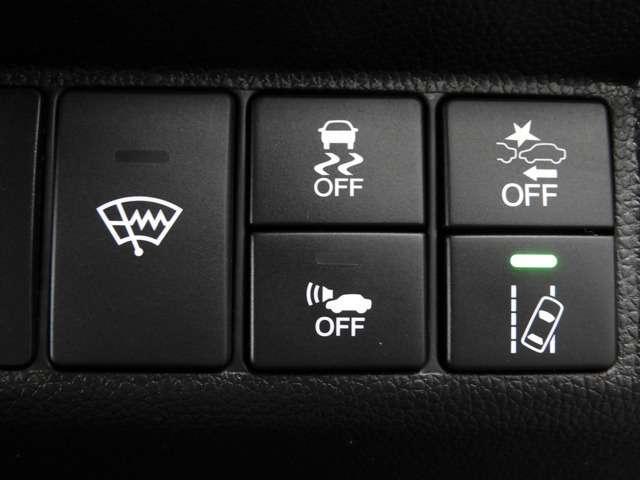 先進の安全運転システムHonda SENSING!衝突軽減ブレーキ・アダプティブクルーズコントロール・車線維持システム・路外逸脱抑制機能・誤発信抑制機能・先行車発進お知らせ機能・標識認識機能等を装備♪
