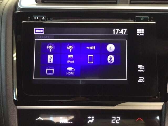 ホンダFOPインターナビに一体のオーディオは、フルセグTVの他にDVD/CDプレーヤーを装備、更にBluetoothでの音楽プレーヤー接続も可能です♪もちろんFM/AMラジオもお聞きいただけますよ♪