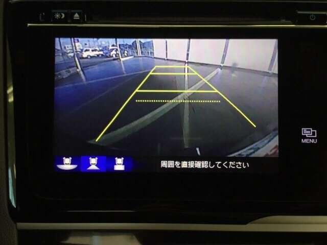 リバ-スに入れると連動してナビ画面に後方の視界が写るので安全確認や駐車の支援になります