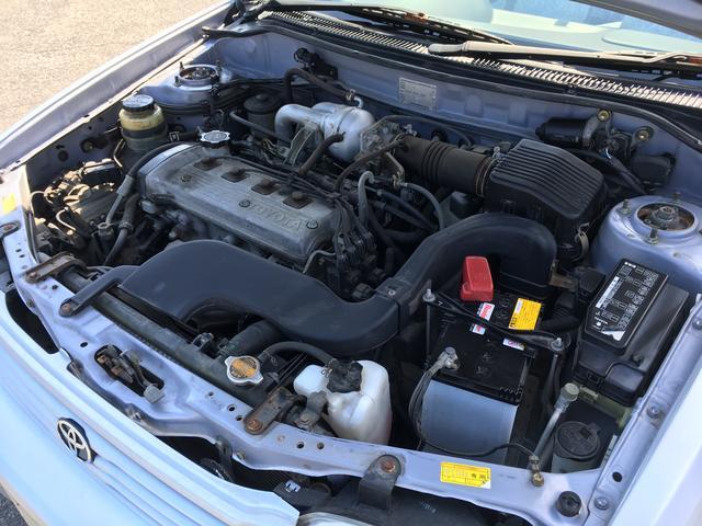 トヨタ コルサ AXリミテッド 車高調 レース半カバー
