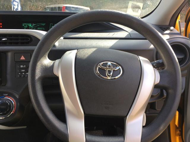 トヨタ アクア S キーレス エアロ HDDナビ 社外15インチアルミ