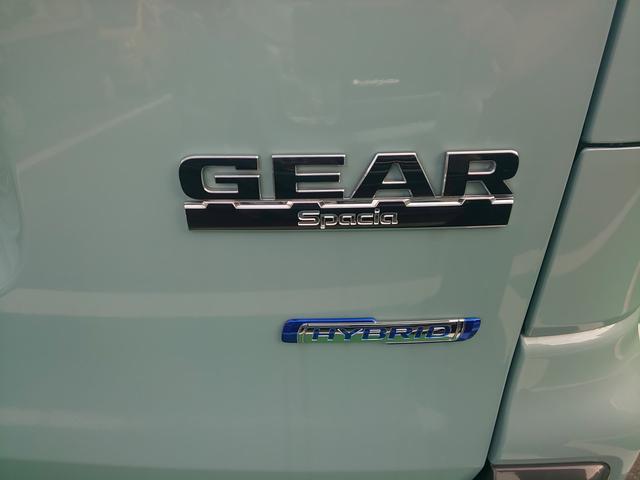 スペーシアギアです。ハイブリッドシステム搭載で低燃費に貢献します。