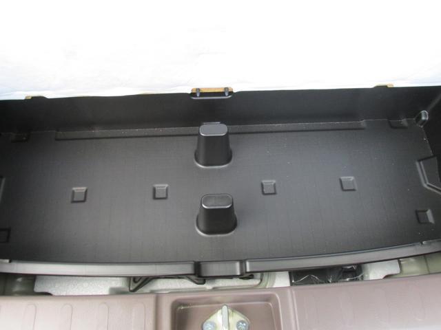 ラゲッジボード下には収納がございます!こちらを取り外して使用も可能です!バケツとも氷を入れて一時的なクーラーボックスとしても使えますよ!
