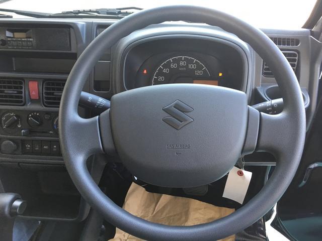 KCスペシャル 届出済未使用車 3AT 4WD スズキセーフティーサポート ノクターンブルー オプション6点付き 荷台マット フロアマット バイザー アッパーメンバーガード アングルプロテクター ナンバープレートリム(7枚目)