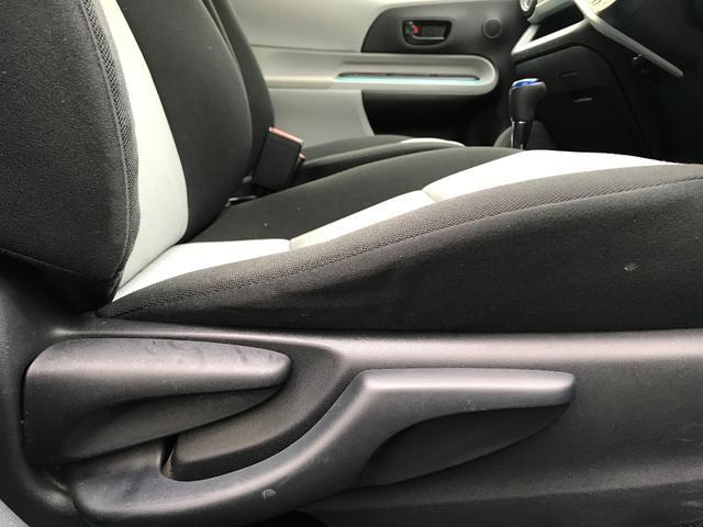 シート座面も上げ下げでき、視線を調節できます