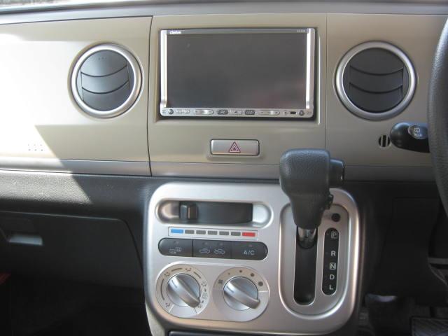 X 4WD キーフリー タイミングチェーン 1年保証付き 社外ナビ シートヒーター CD ETC タイヤ4本新品交換 純正アルミホイル 室内清掃 フル装備(11枚目)