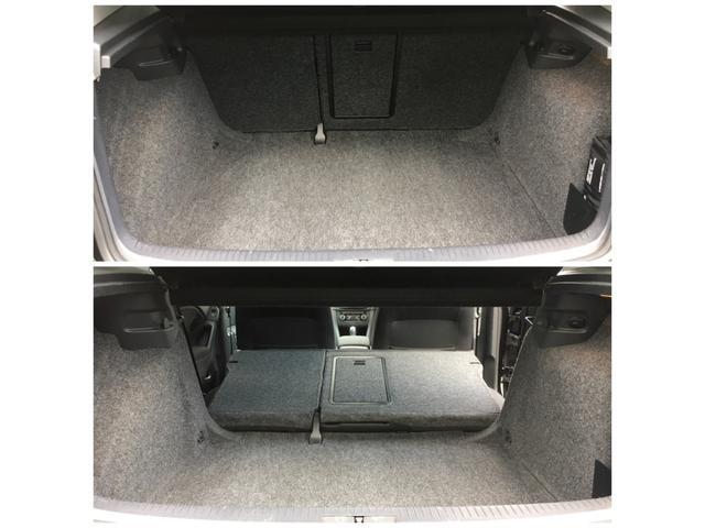 トランクはシートを前倒しにしなくとも大容量ですが、前倒しにすることによって長物も問題なく積めます!