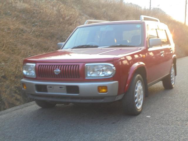 日産 ラシーン タイプA フルタイム4WD CD 背面タイヤ