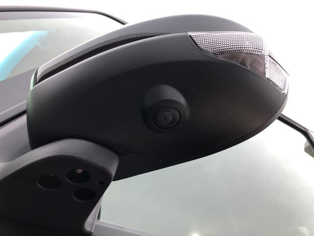 車両の前後左右に搭載した4つのカメラにより、車庫入れや狭い道でのすれ違いをしっかりサポートするパノラマモニター対応のアップグレードパックが付いてます