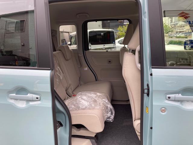 ハイブリッドX セーフティーサポート 禁煙車 両側電動スライドドア バックソナー スマートキー オートエアコン シートヒーター ルーフレール 盗難防止システム ベンチシート フルフラット(14枚目)