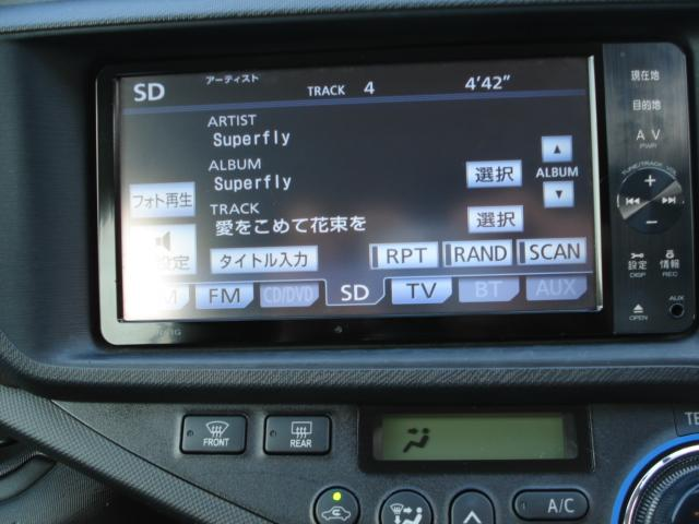 トヨタ アクア G ナビ フルセグ バックカメラ シートヒーター CD録音