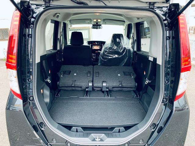 後部座席を倒せば大きな荷物も積載可能です!