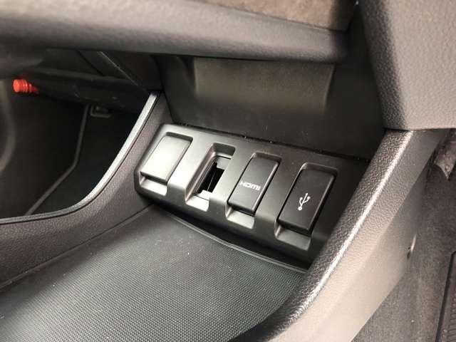 USBジャック+HDMI入力端子