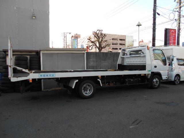 いすゞ エルフトラック 積載車 ローダー 2トン