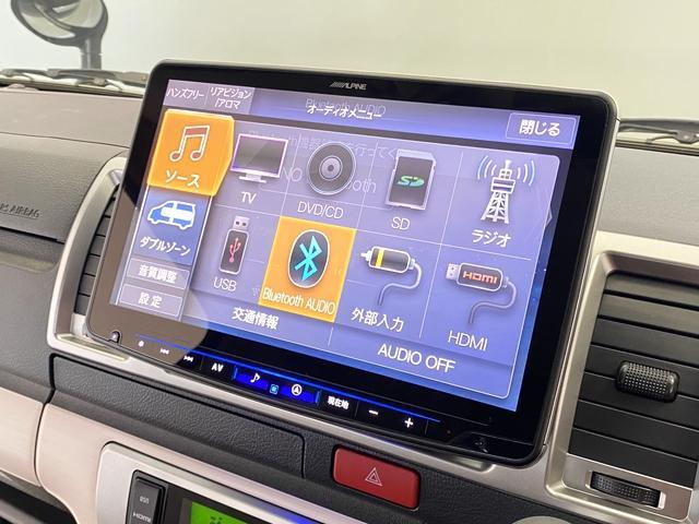 リラクベースタイプ1 11インチフローティングナビ 12.8インチフリップダウン ベッドキット ヴィンテージ調ブラウンシートカバー 100Vアクセサリーコンセント 両側Pスライド ディーゼル車(4枚目)