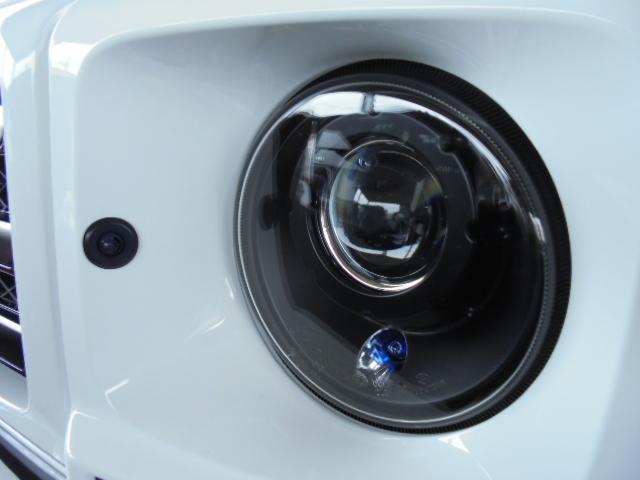 G350d 純正HDDナビ バックカメラ AMG20インチアルミ オプションサイドカメラ ブラバスサイド出しマフラー 社外ヘッドライト ブラバスデイライト マットブラック塗装 改造多(9枚目)