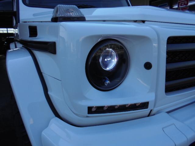 G350d 純正HDDナビ バックカメラ AMG20インチアルミ オプションサイドカメラ ブラバスサイド出しマフラー 社外ヘッドライト ブラバスデイライト マットブラック塗装 改造多(30枚目)