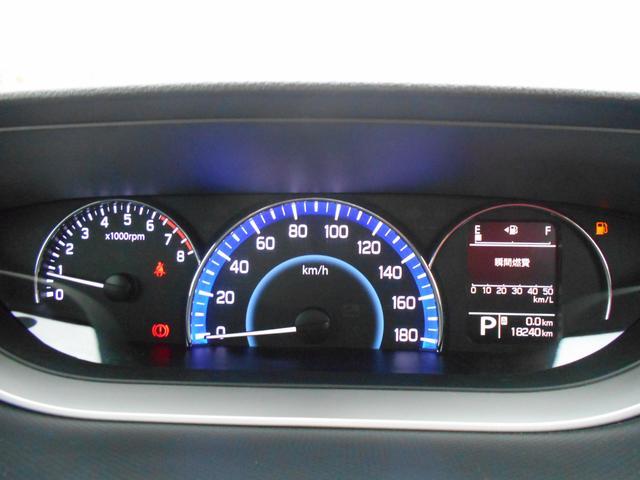 見やすさの秘訣は発光型のメーター!はっきりとした白文字なので運転時も確認しやすいです。