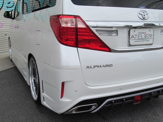 トヨタ アルファード 240X ナビTV 社外エアロ 21インチアルミ 車高調